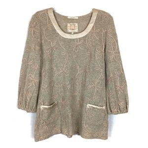 Fine Garments by Bell Beige Wool Tunic Sweater M